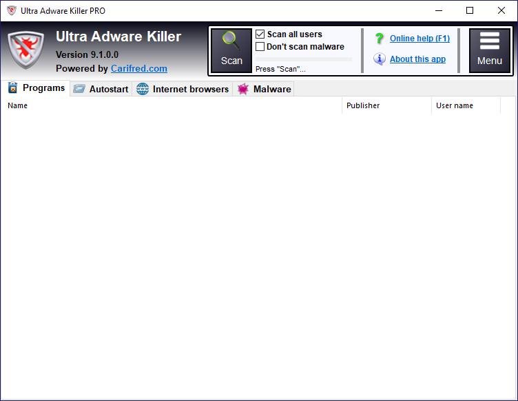 Ultra Adware Killer x64 screenshot